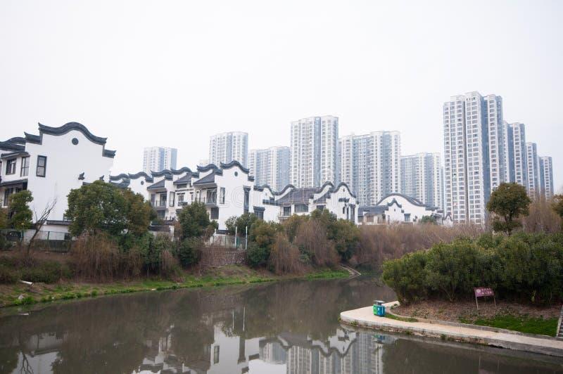 Construção residencial chinesa fotografia de stock royalty free