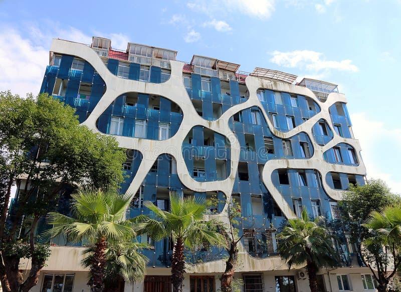 Construção residencial incomum em Batumi fotos de stock royalty free