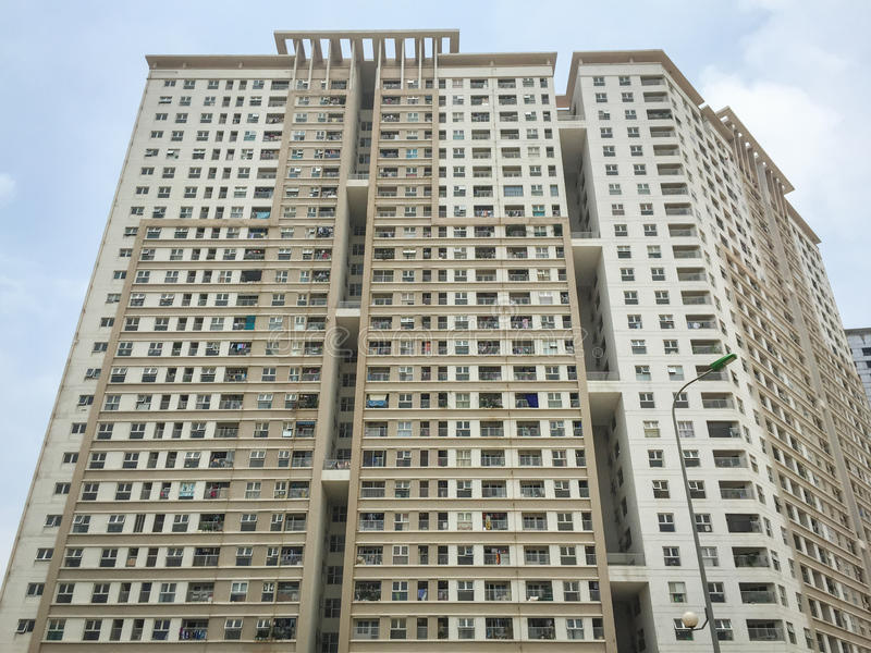 Construção residental moderna em Thai Nguyen, Vietname imagens de stock