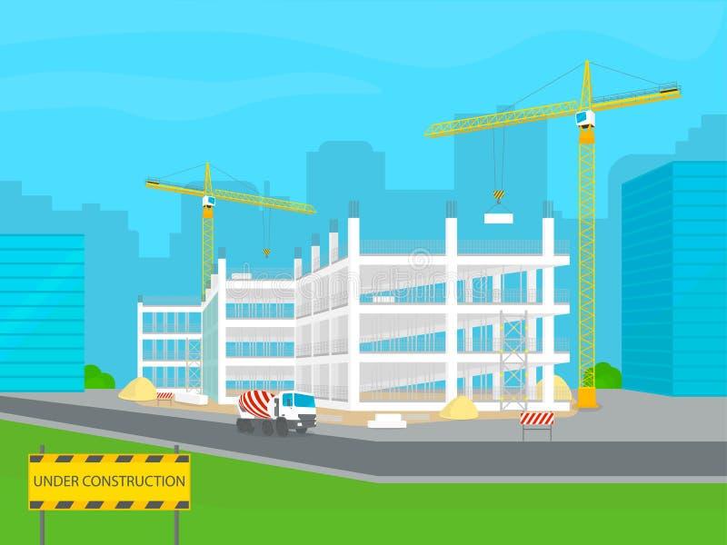 Construção sob a construção ilustração stock