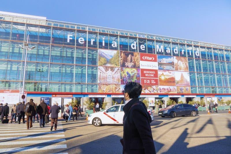 Construção sul da entrada - IFEMA, Madri fotografia de stock