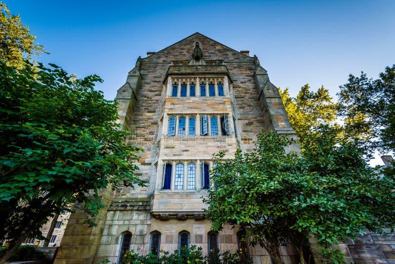 A construção sul de Berkeley College em Yale University, no Ne imagens de stock royalty free