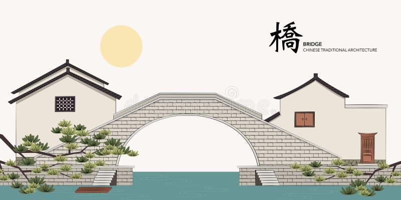 Construção tradicional chinesa da arquitetura da série do molde do vetor ilustração royalty free