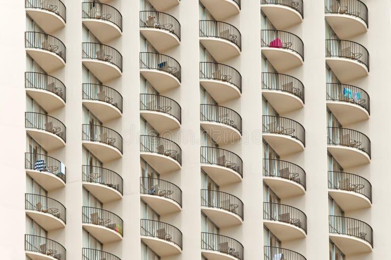 Construção urbana, teste padrão da fachada fotografia de stock royalty free