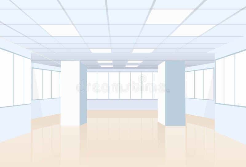Construção vazia do estúdio da sala de conferências do escritório real ilustração do vetor