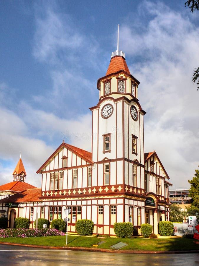 Construção velha da estação de correios, Rotorua, Nova Zelândia imagens de stock royalty free