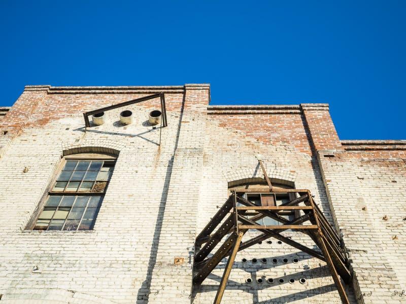 Construção velha da rua de Olvera - Los Angeles, LA, Califórnia, CA imagens de stock royalty free