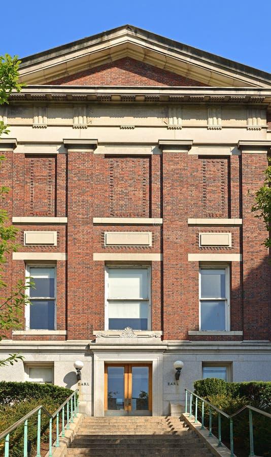 Constru??o velha de Hall do conde, casa do estudante Religious Groups Universidade de Columbia, universidade privada da pesquisa  fotografia de stock royalty free