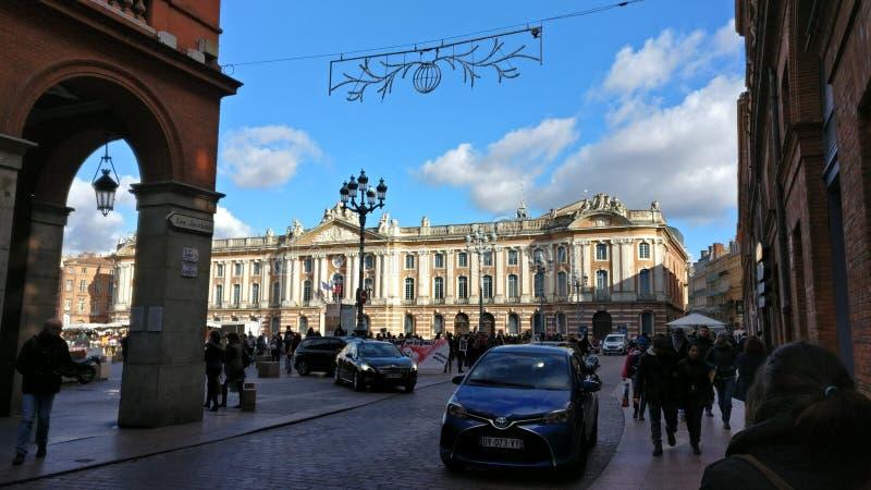 Construção velha de Toulouse france imagem de stock