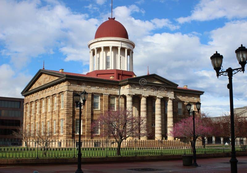 Construção velha do Capitólio do estado, Springfield, IL fotografia de stock