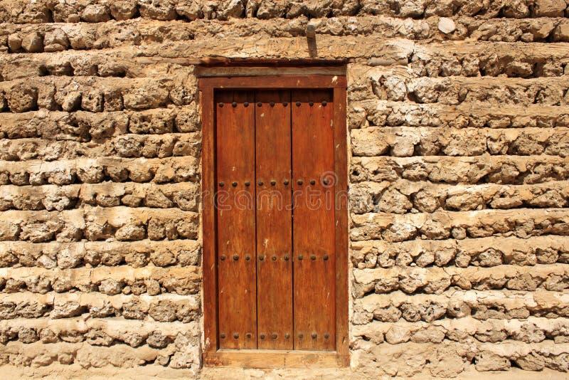 Construção velha em Dubai, United Arab Emirates fotografia de stock
