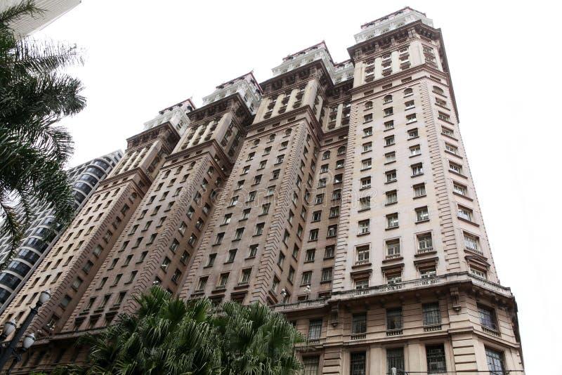 Construção velha em Sao Paulo do centro Brasil foto de stock royalty free