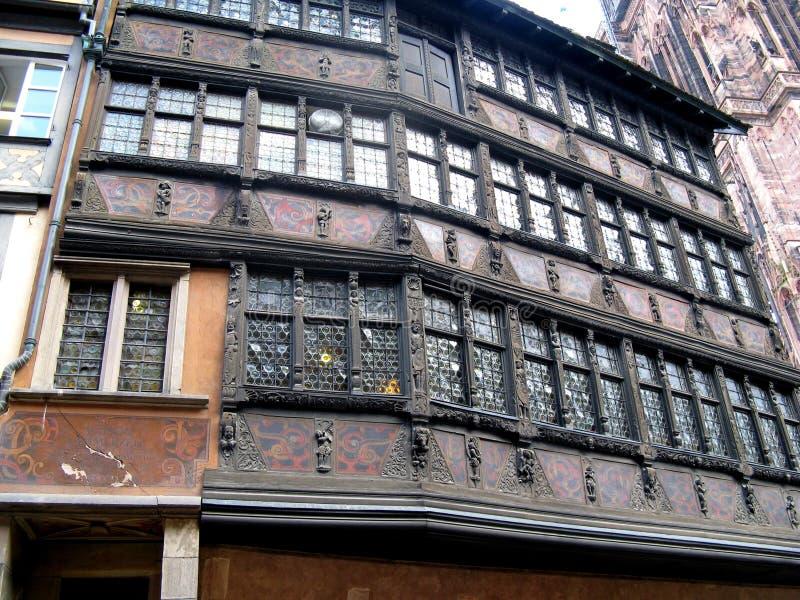 Construção velha em Strasbourg fotografia de stock