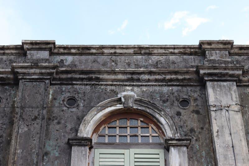 Construção velha na ilha de Penang foto de stock royalty free