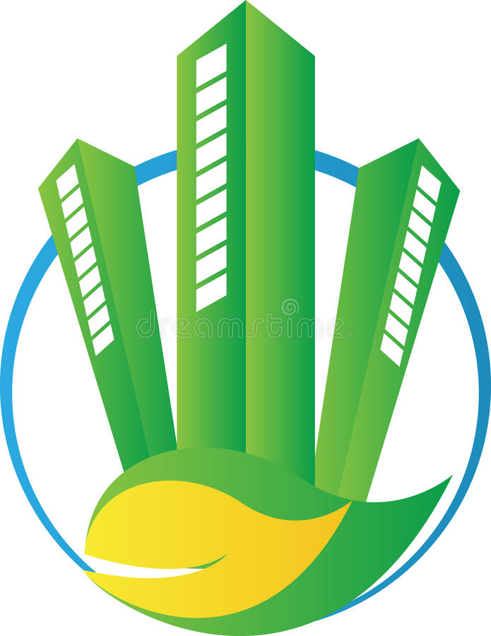 Construção verde de Eco ilustração stock