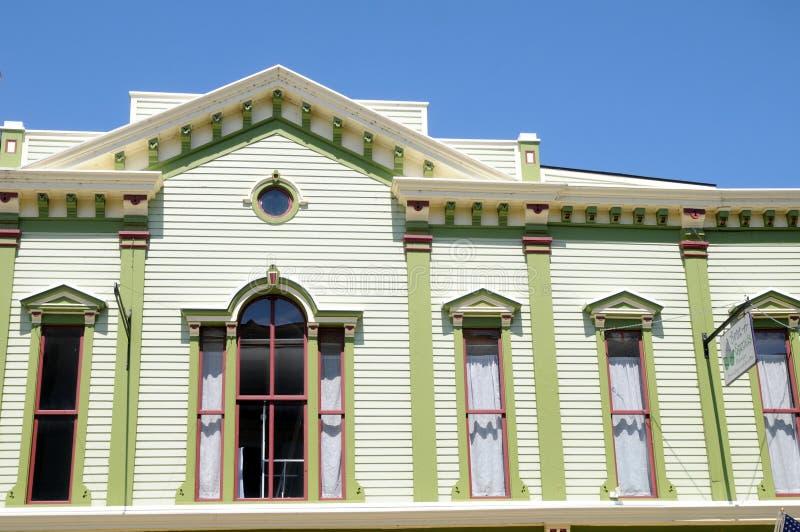 Construção vitoriano do estilo na ilha de Mackinac foto de stock