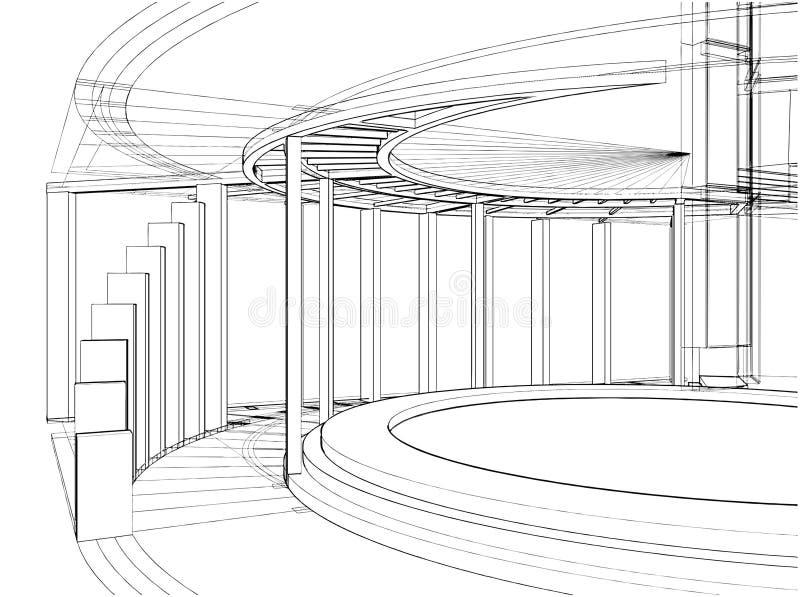 Construções abstratas da linha vetor 44 ilustração stock