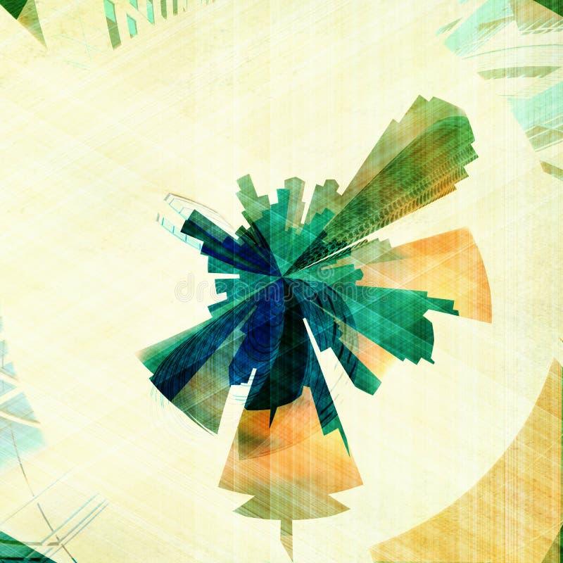 Construções abstratas do grunge ilustração do vetor