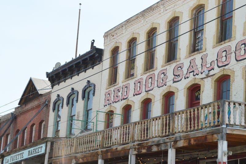 Construções antigas em Virginia City Nevada fotografia de stock royalty free