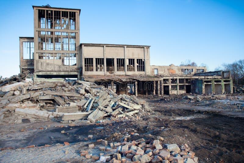 Construções arruinadas imagens de stock