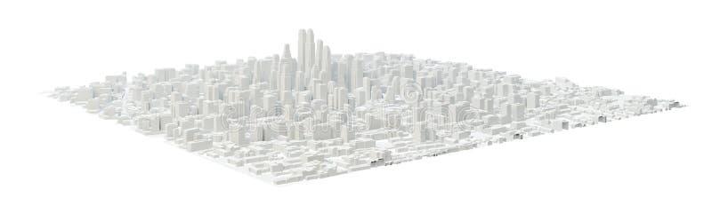 Construções brancas da cidade ilustração royalty free