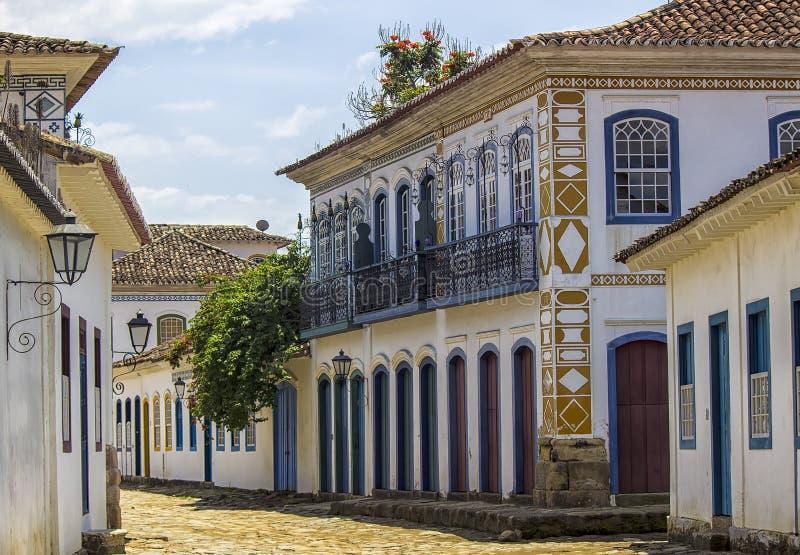 Construções coloniais brasileiras fotografia de stock royalty free