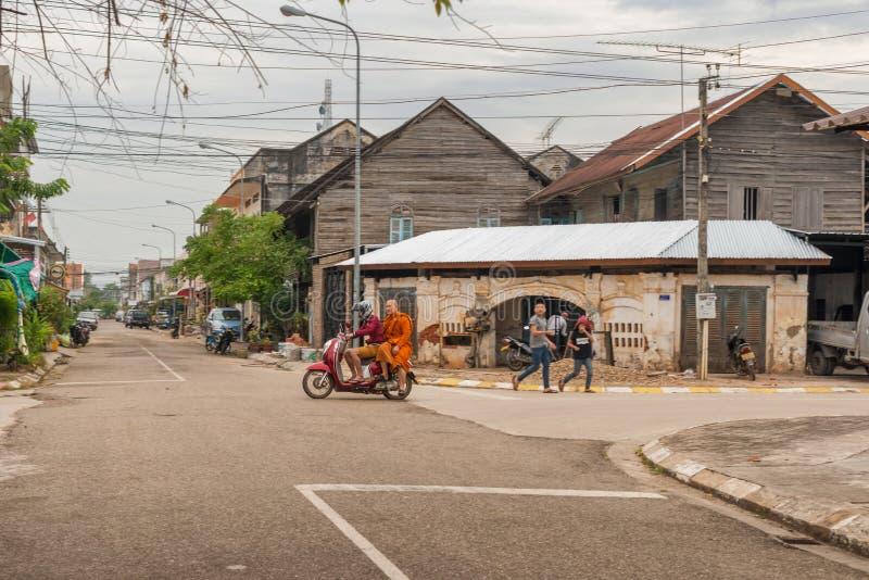 Construções coloniais francesas em Savennakhet, Laos foto de stock royalty free