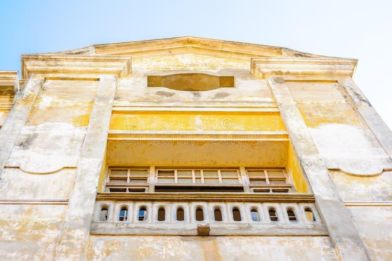 Construções coloniais na cidade velha de Cartagena - Colômbia foto de stock royalty free