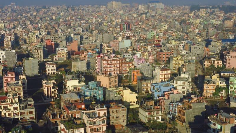 Construções coloridas em Kathmandu imagens de stock royalty free