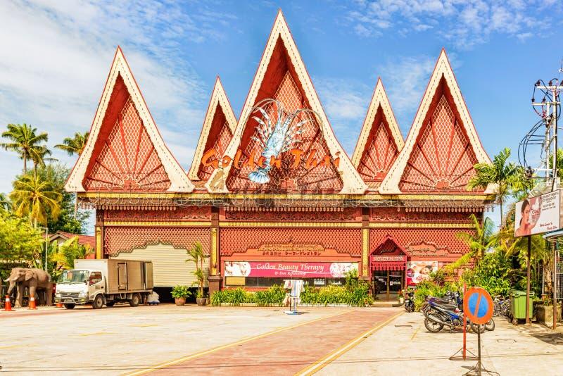 Construções comerciais mim George Town, Penang, Malásia fotos de stock