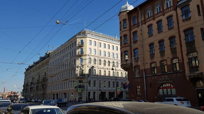 Construções da arquitetura de St Petersburg fotos de stock royalty free