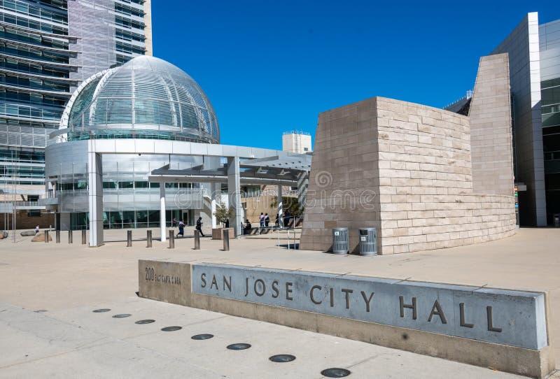 Construções da câmara municipal de San Jose California fotos de stock