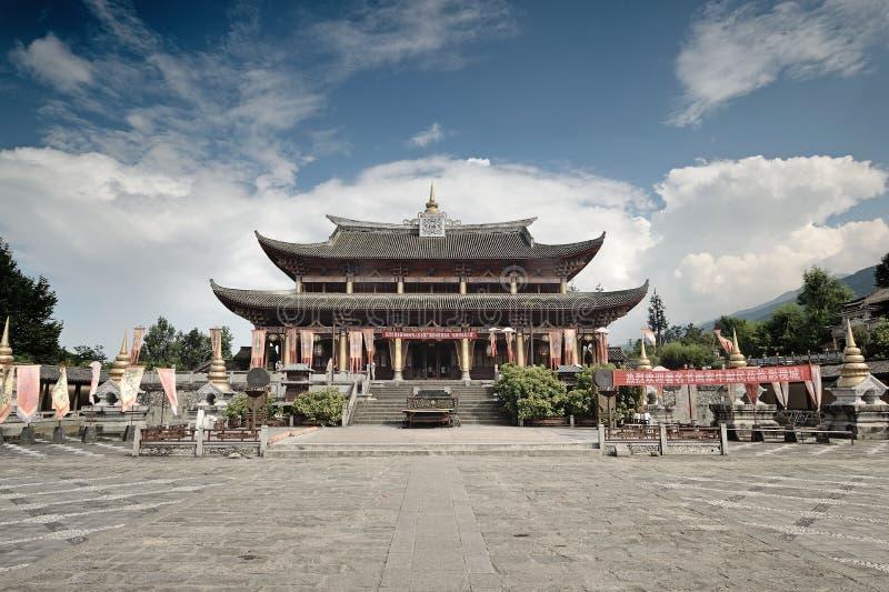 Construções da cidade de Dali Yunnan-Film e da televisão fotografia de stock