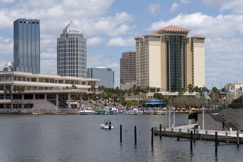 Construções da margem em Tampa Fl E.U. imagem de stock