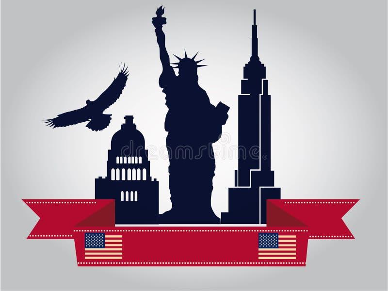 Construções de América ilustração stock
