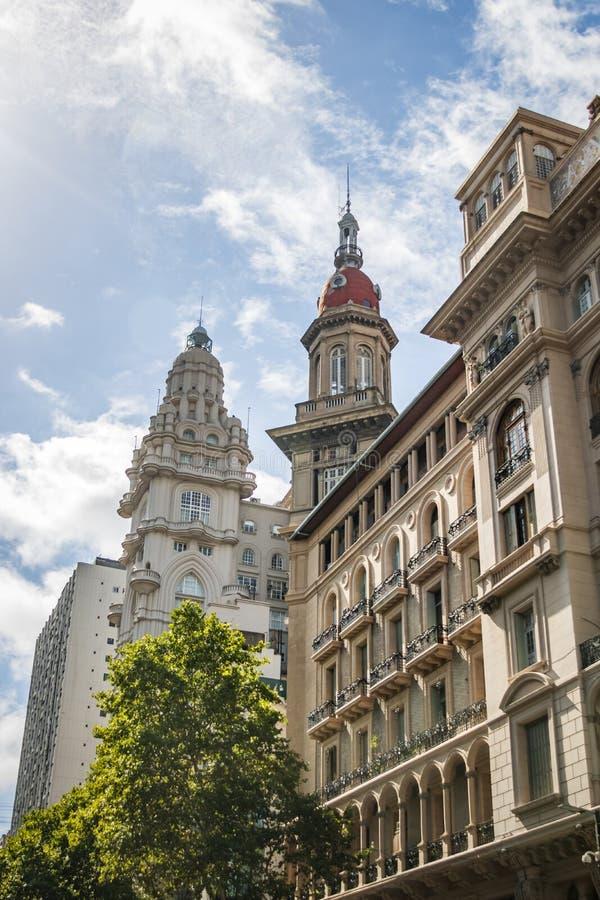 Construções de Inmobiliaria do palácio e do La de Barolo - Buenos Aires, Argentina fotografia de stock royalty free