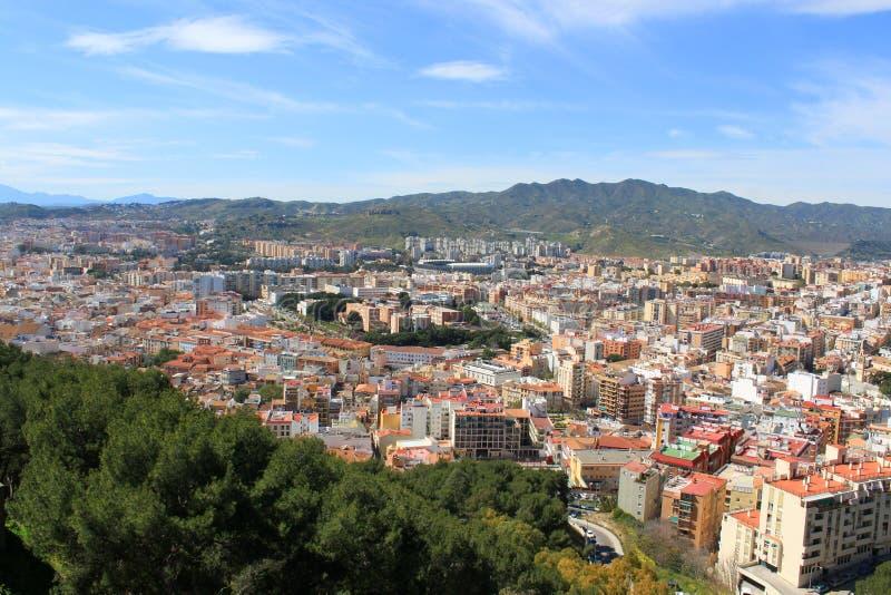 Construções de Malaga imagem de stock royalty free