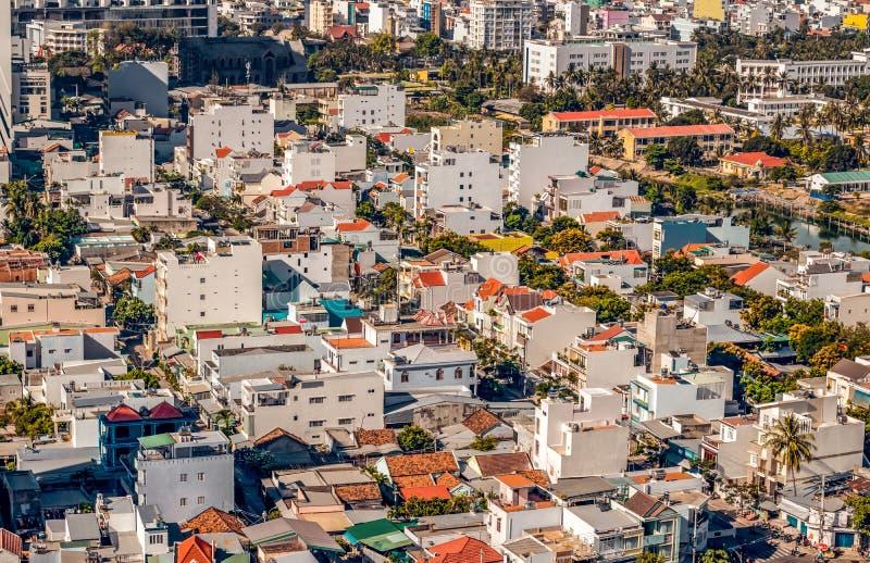 Construções de Nha Trang no norte foto de stock royalty free