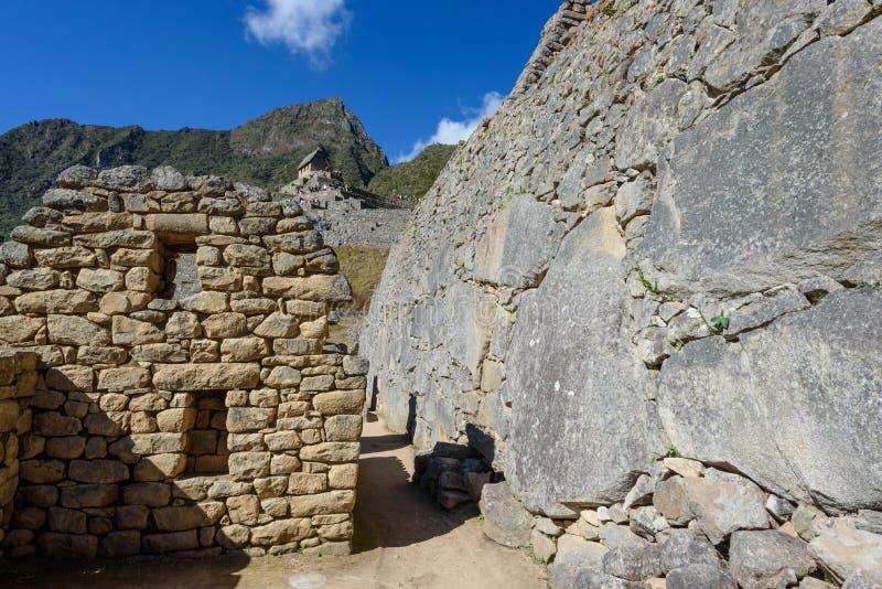Construções de pedra em Machu Picchu fotos de stock