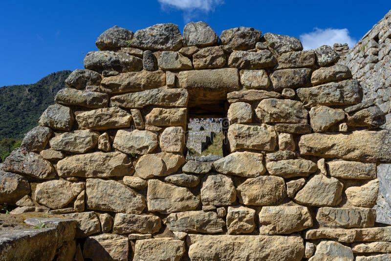 Construções de pedra em Machu Picchu fotos de stock royalty free