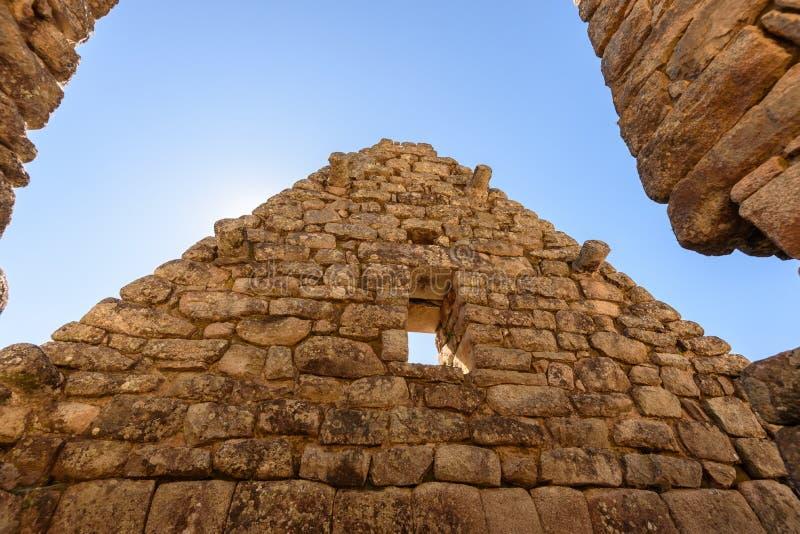 Construções de pedra em Machu Picchu imagem de stock royalty free