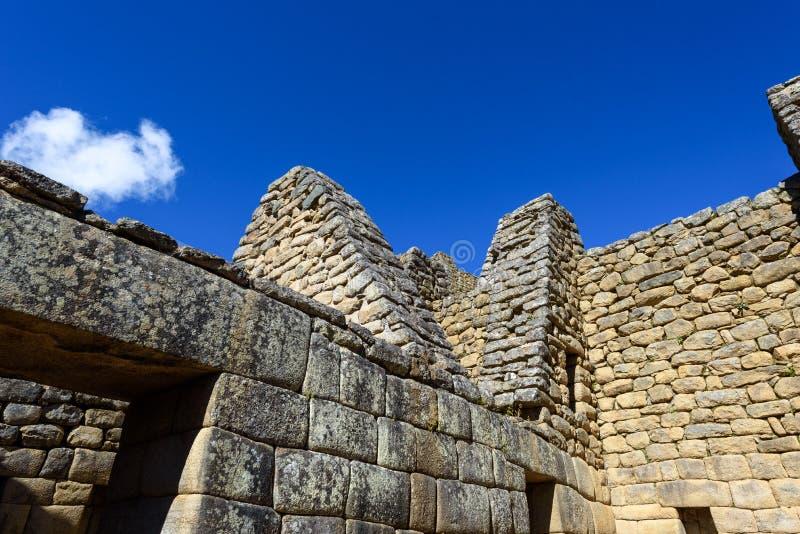 Construções de pedra em Machu Picchu foto de stock