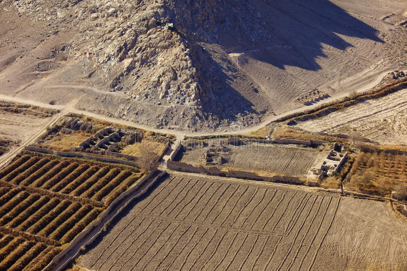 Construções destruídas em Kandahar Afeganistão foto de stock royalty free