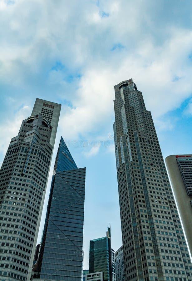 construções do ฺà¸'high em áreas centrais de Singapura fotografia de stock