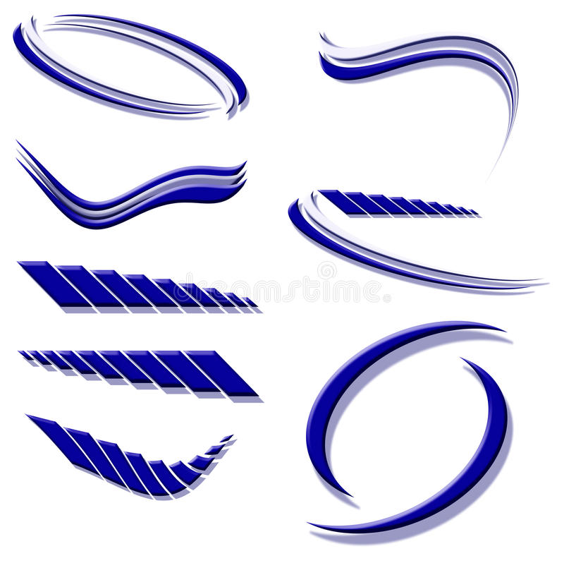 Construções do ícone ou do logotipo azuis ilustração stock