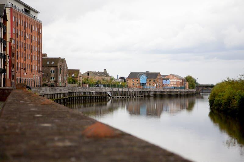 Construções do beira-rio de Gainsborough foto de stock
