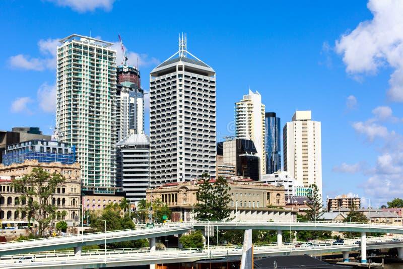Construções do centro de cidade de Brisbane foto de stock royalty free