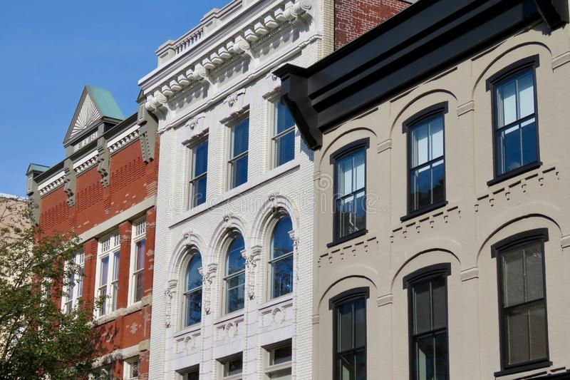 Construções do centro históricas, Lancaster, PA foto de stock royalty free