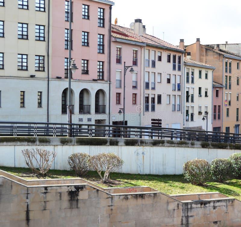 Construções do centro histórico em uma cidade europeia fotos de stock