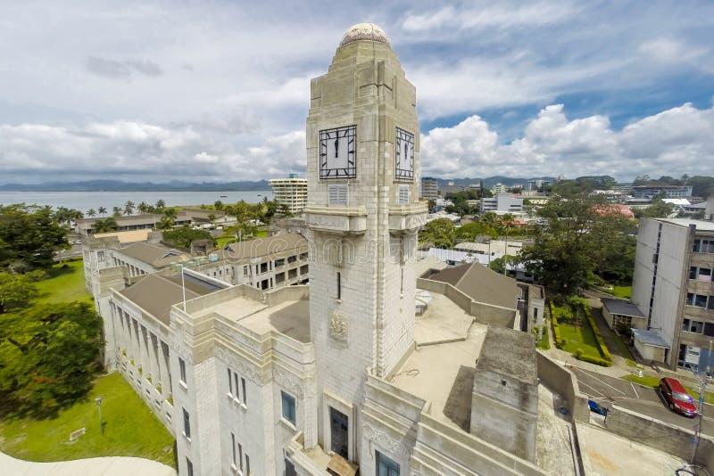 Construções do governo em Suva Primeiro ministro dos escritórios de Fiji, o tribunal federal, o parlamento de Fiji Melanesia, Oce imagem de stock royalty free